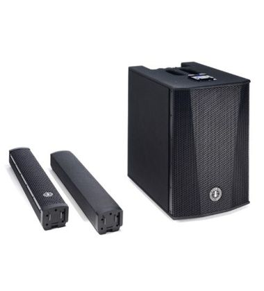 It is composed of two column elements: a stand and a speaker