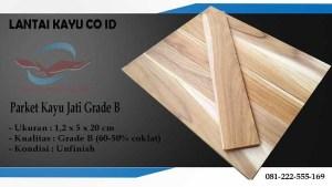 parket lantai kayu jati Grade B ukuran 20 cm