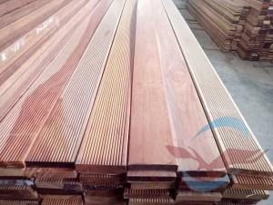 Decking Rengas kempas lantai kayu outdoor