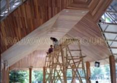Contoh pemasangan plapon kayu/lambersiring