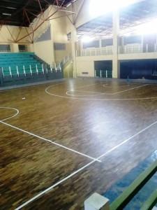 lantai kayu arena olahraga
