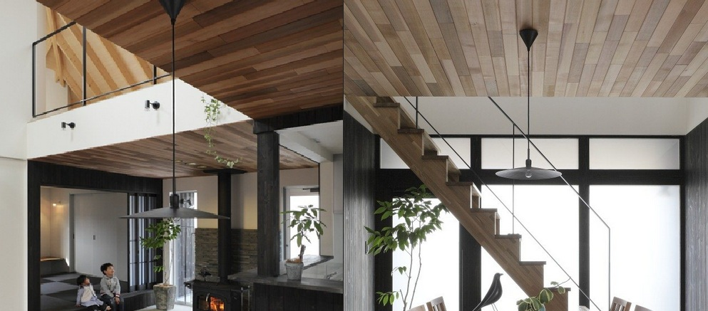 desain rumah kayu pada atap
