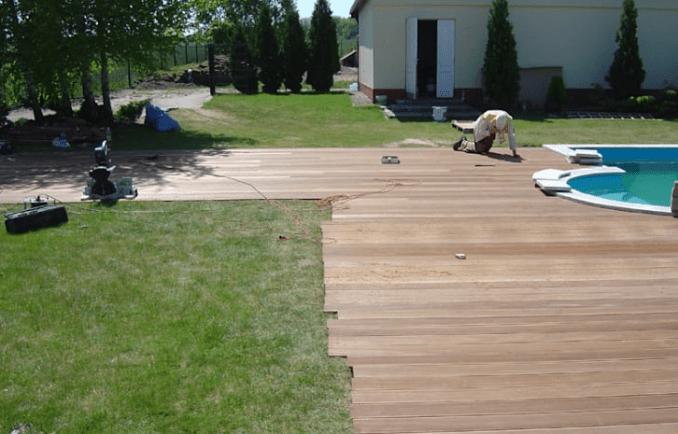 langkah 5 cara memasang decking kayu