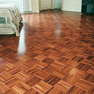 lantai kayu Jati mozaik terpasang