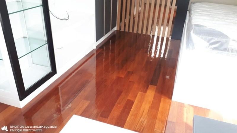 Pemasangan lantai kayu parket Rawamangun Merbau
