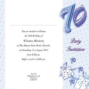 Occasion Card 70 1w 70th Birthday