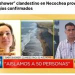 EL BABY SHOWER DE NECOCHEA EN TODOS LOS MEDIOS NACIONALES