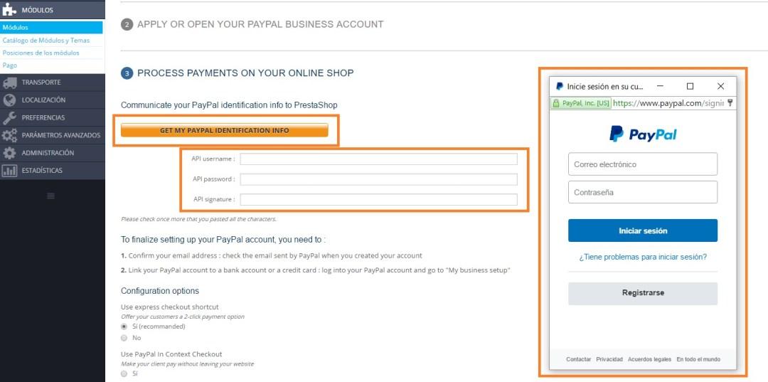 Obtener API de Paypal