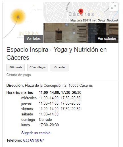 google mi negocio informacion de contacto detallada