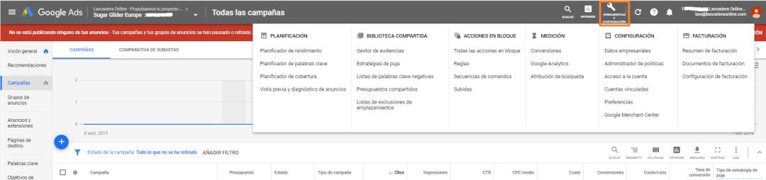 COMO OBTENER TUS FACTURAS DE GOOGLE ADS