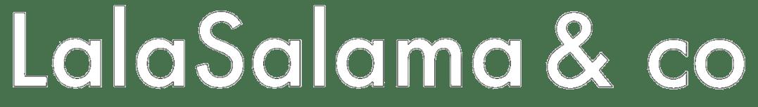 lalasalama logo blanco diseñador web tienda online moda ropa diseñadora web freelance agencia marketing online ecommerce ropa moda badajoz