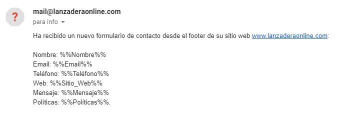 error wordpress email
