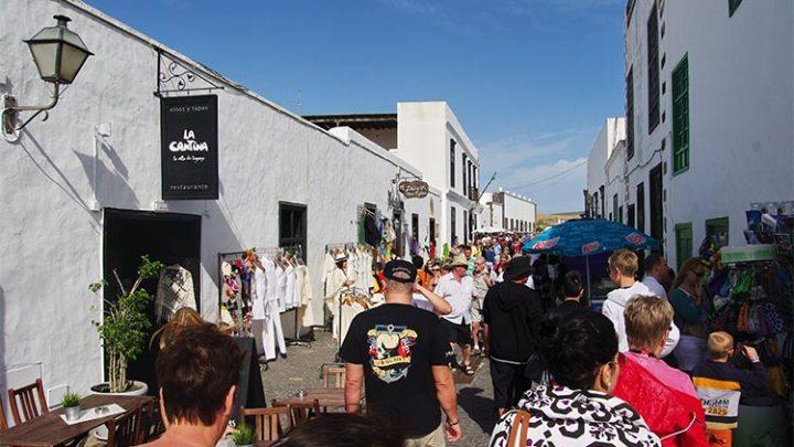 Teguise Market from Playa Blanca
