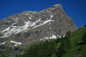 Veduta della montagna Uja di Mondrone