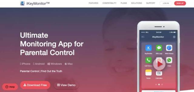 iKeyMonitor App for Parental Control