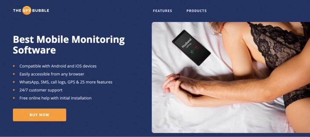 SpyBubble monitoring app