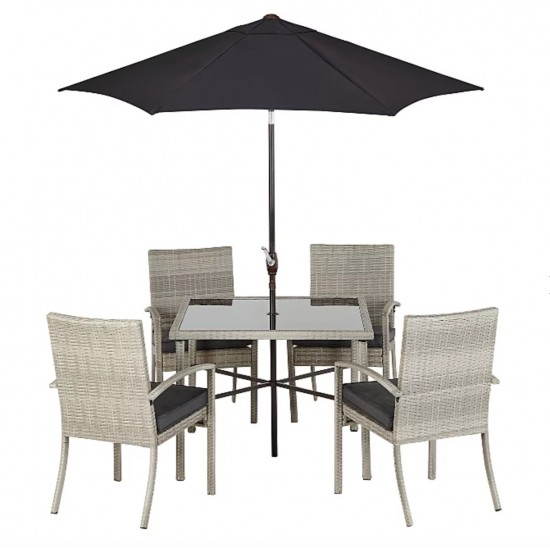 jakarta charcoal 6 piece patio set