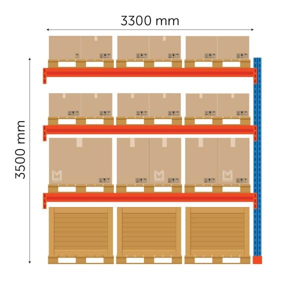 Kaubaaluste riiuli jätkuosa FIN 3500x3300mm