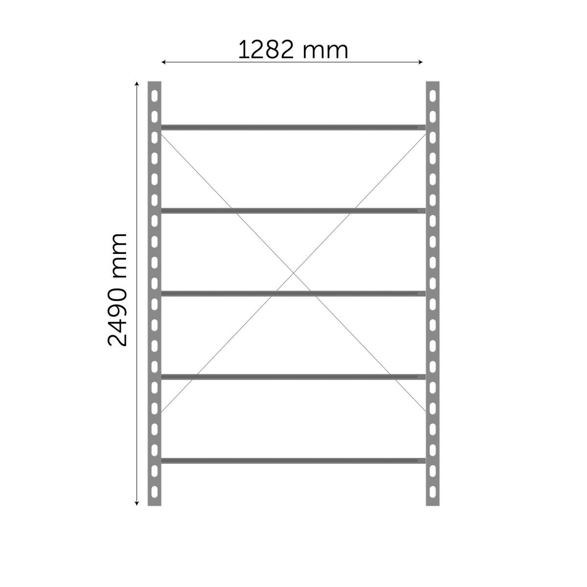 Moodulriiuli põhiosa 2490x1282mm
