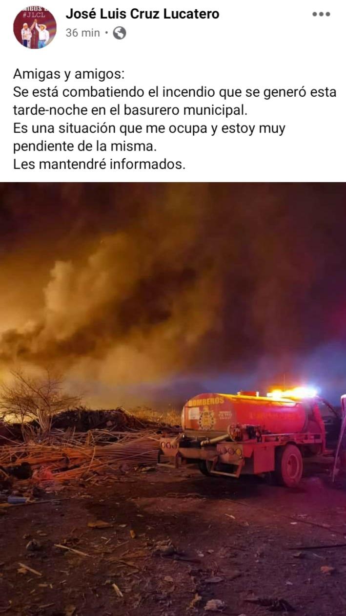 EL RELLENO SANITARIO APATZINGUENSE ARDE DE NUEVA CUENTA.