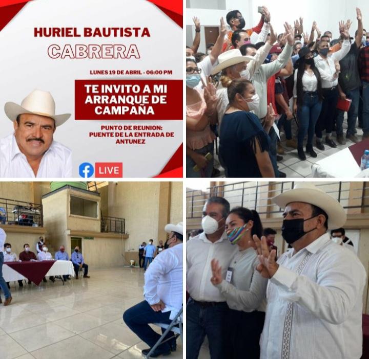 INVITA EL CANDIDATO DE MORENA A PRESIDENTE MUNICIPAL POR PARÁCUARO, HURIEL BAUTISTA CABRERA AL ARRANQUE DE CAMPAÑA EN LA TENENCIA DE ANTÚNEZ.