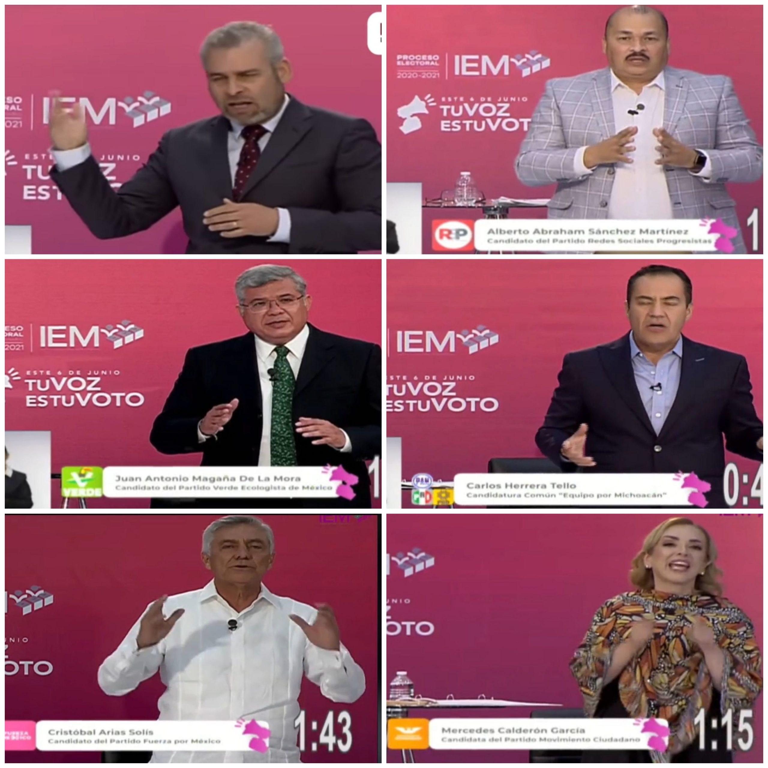 ALFREDO RAMÍREZ BEDOLLA -AR21-, CANDIDATO A LA GUBERNATURA MICHOACANA POR LA COALICIÓN MORENA-PT, CAMPEONÓ EN EL DEBATE ORGANIZADO POR EL INSTITUTO ELECTORAL DE MICHOACÁN -IEM-.