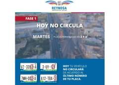 AUTOMÓVILES CON PLACAS TERMINADAS 2 Y 3 MP CIRCULAN EL MARTES 4