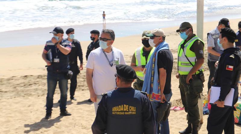 Operativo en playa de Concón dejó un detenido: se negó en ser fiscalizado