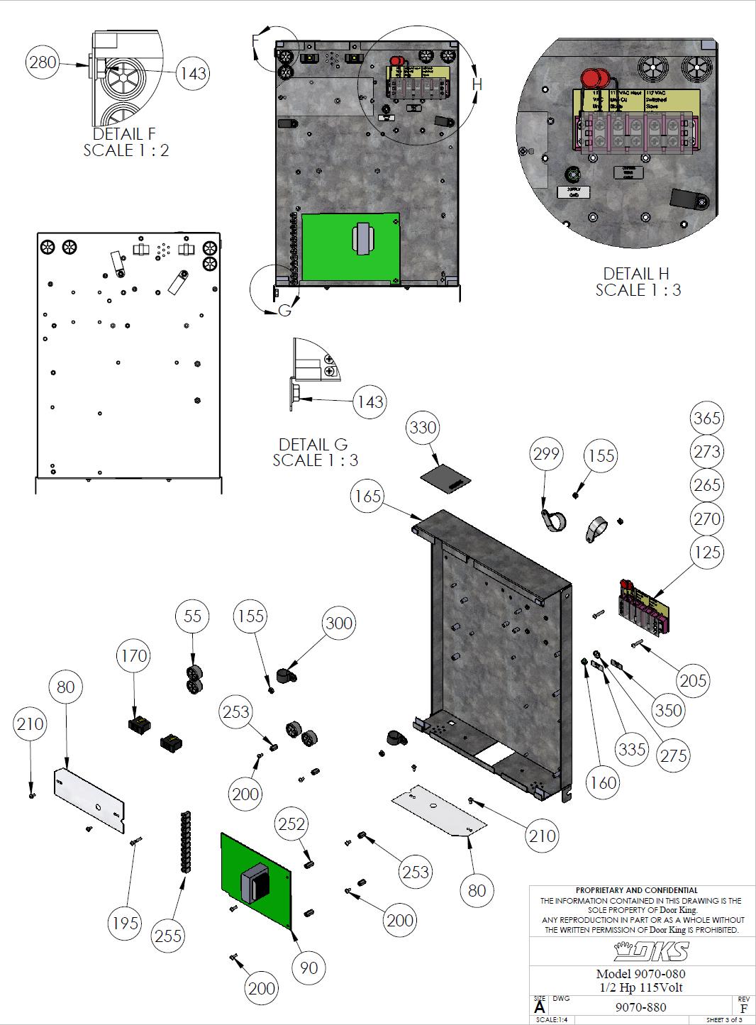 Doorking Parts Slide Gate Operator 080 Doorking