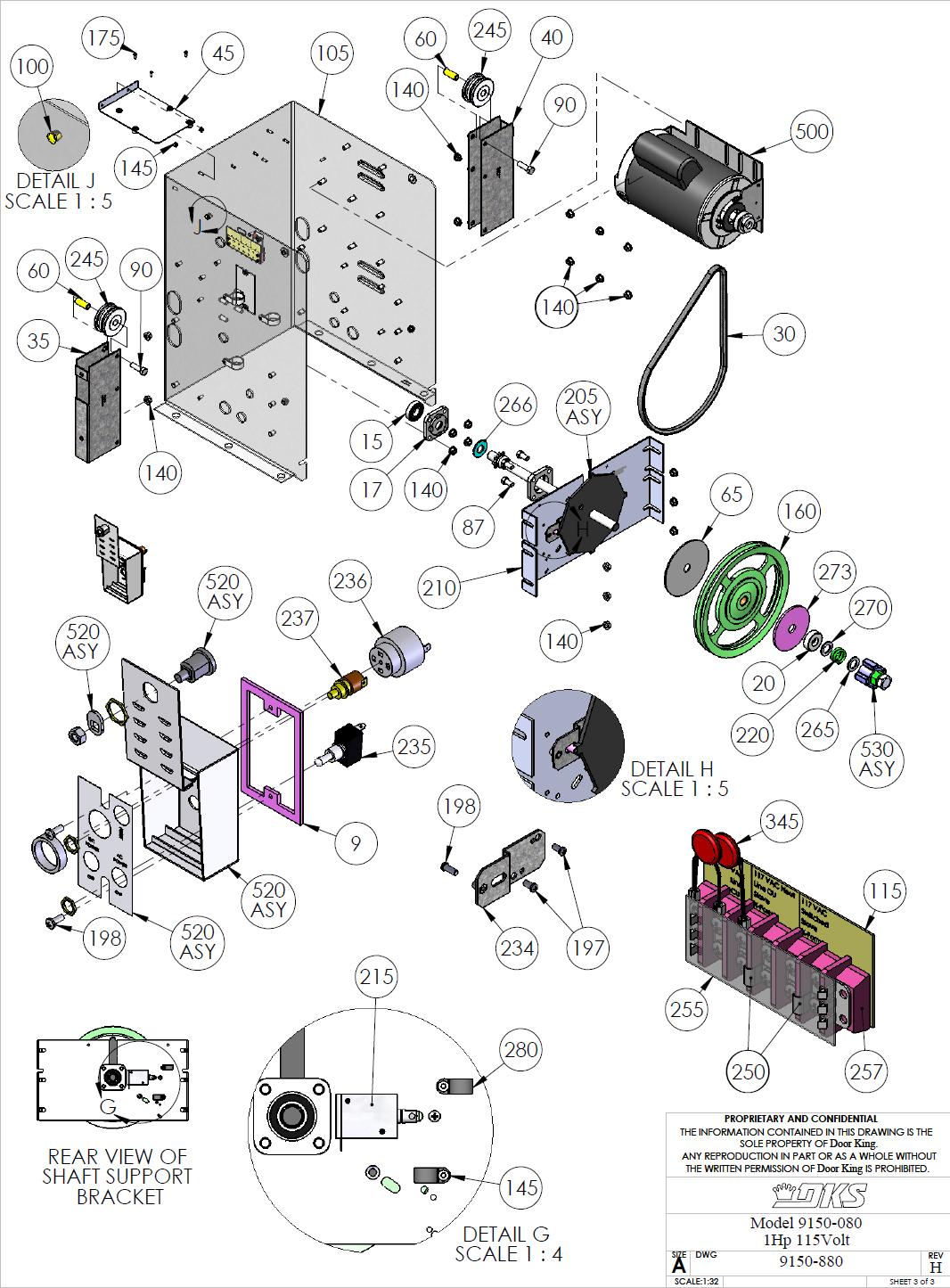 Doorking Parts Slide Gate Operators 880 Doorking Replacement Parts