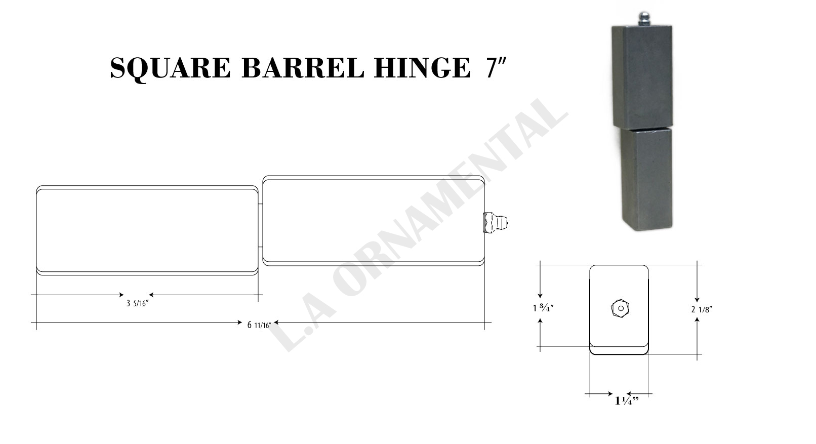 5/8 J-Bolt Adjustable Heavy Duty Hinge Heavy Gates 3/4