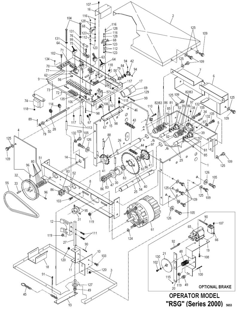 slide gate operator installation diagram
