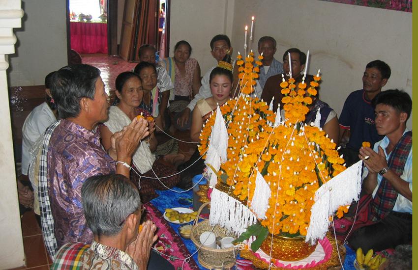 Baci Ceremony  Laos national custom of blessing