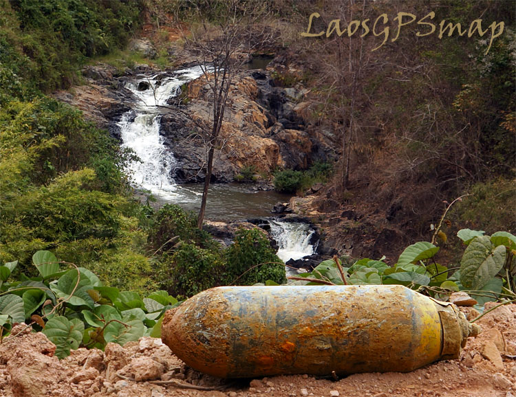 Ho Chi Minh trail bomb-waterfall