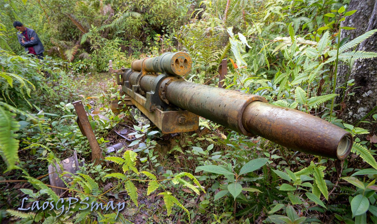 Howitzer left over from the Secret war Northern Laos