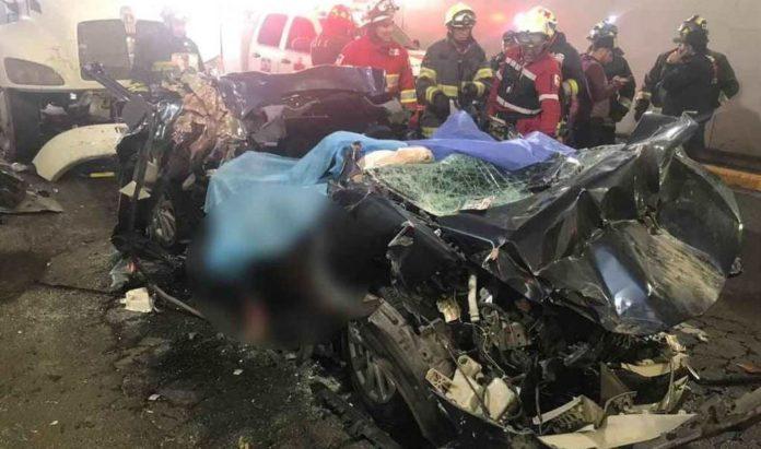 Accidente automovilstico en Constituyentes deja 4 muertos