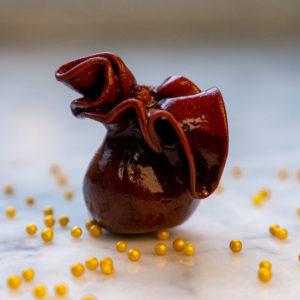 Aumônière sucrée pâtisserie créative