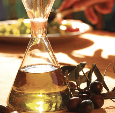 Setrill amb oli i unes olives