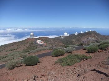Gigantische Kulisse - Astronomie Observatorium