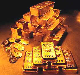 En helt annat hög med guld