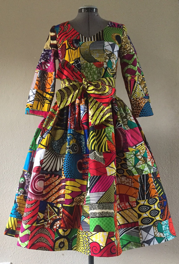 African Print Senegal Midi Dress: 50+ Best African Print Dresses [& Where To Get Them]