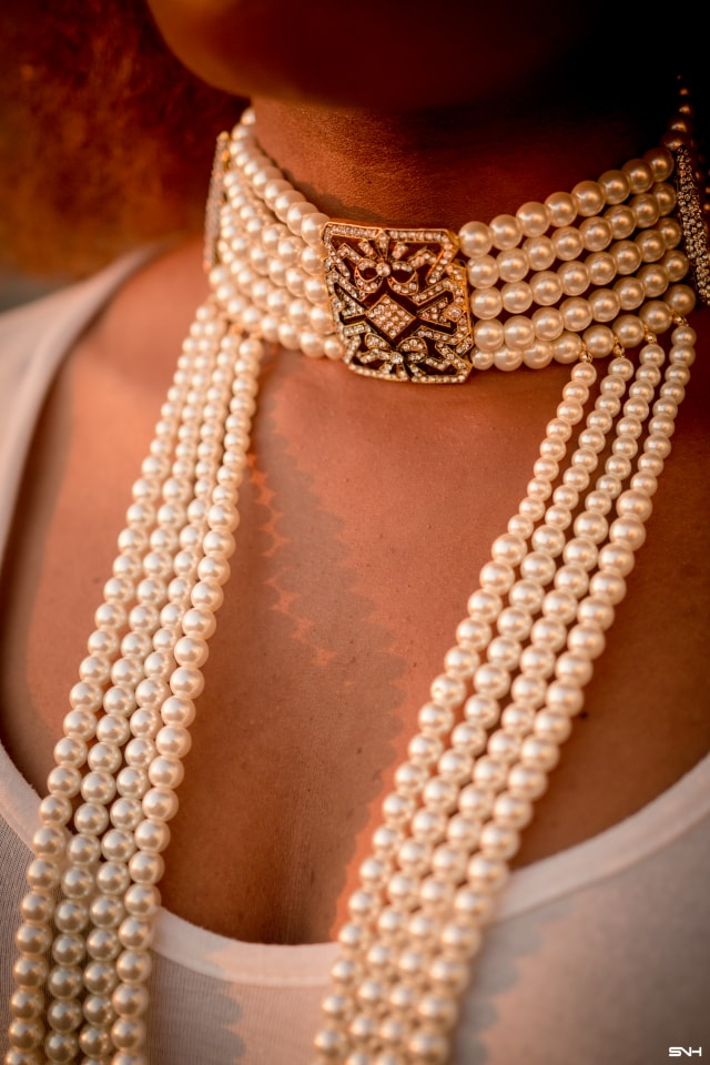 This pearl choker necklace is the hottest! The perfect statement accessory to upgrade your look from Amrita Singh jewelry. Beaded necklace, long necklace, the perfect jewelry