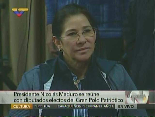 Cilia Flores. Foto: Captura VTV