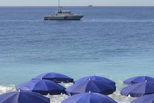 A French gendarme craft patrols along the coast in Nice, France July 15, 2016 the day after a truck ran into a crowd at high speed killing scores and injuring more who were celebrating the Bastille Day national holiday.   REUTERS/Jean-Pierre Amet