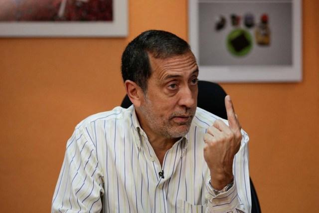 Jose Guerra, deputy of the Venezuelan coalition of opposition parties (MUD), speaks during an interview with Reuters in Caracas, Venezuela, March 9, 2017. REUTERS/Marco Bello