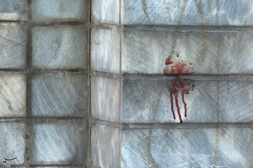 Blood is seen at the scene of an attack on the Iranian parliament in central Tehran, Iran, June 7, 2017. Tasnim News Agency/Handout via REUTERS ATTENTION EDITORS - THIS PICTURE WAS PROVIDED BY A THIRD PARTY. FOR EDITORIAL USE ONLY. NO RESALES. NO ARCHIVE.