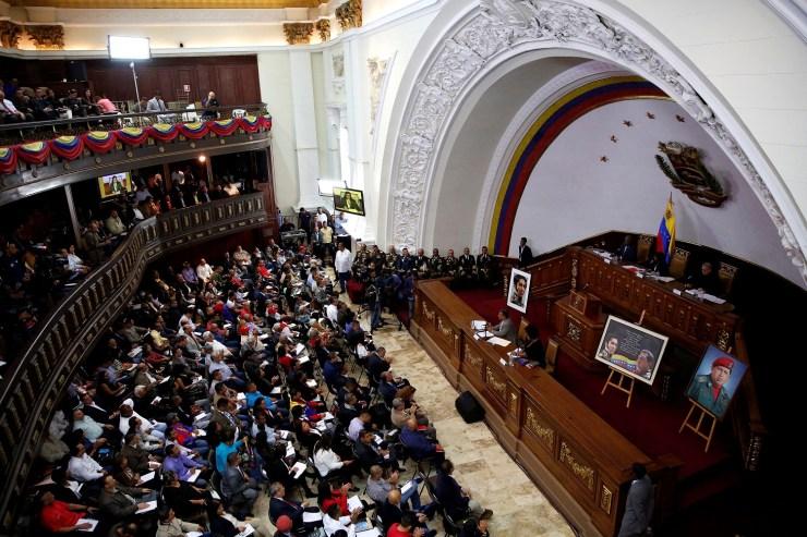 Imagen de archivo de una sesión de la Asamblea Nacional Constituyente de Venezuela en Caracas, ago 8, 2017. REUTERS/Carlos Garcia Rawlins