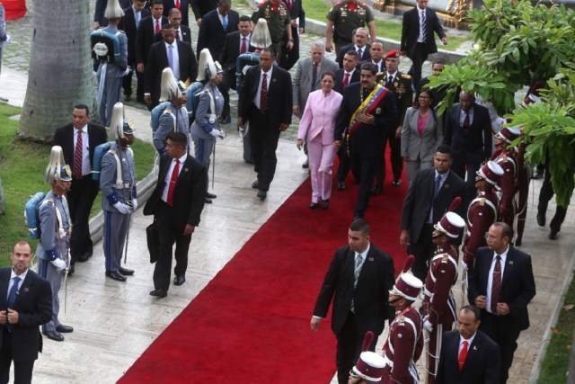 Maduro asiste a una reunión de la asamblea constituyente en el Palacio Federal Legislativo en Caracas, el 10 de agosto de 2017 / foto AVN