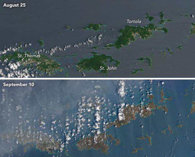 Foto: El huracán Irma deja marrones las verdes islas del Caribe / ABC.es