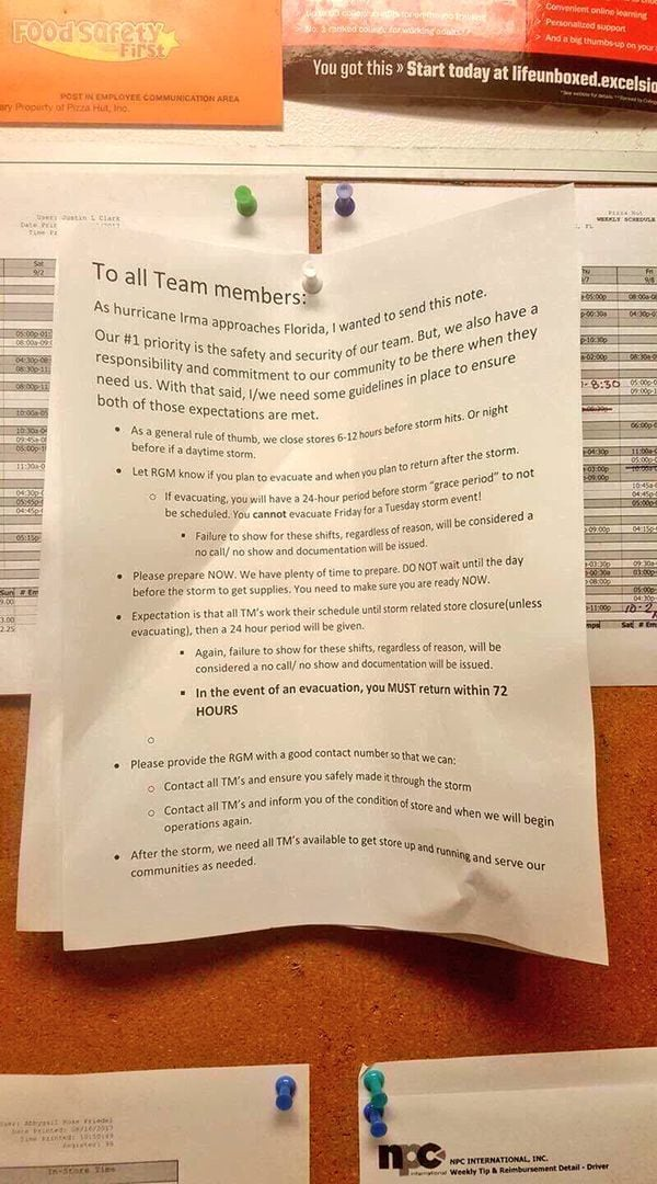 La nota que circuló en las redes sociales y despertó la furia de los usuarios contra Pizza Hut. Foto tomada de Infobae